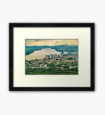 Aerial View of Guayaquil from Window Plane Framed Print