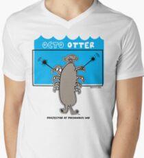 Octo Otter Comic Robot Super Hero Design T-Shirt