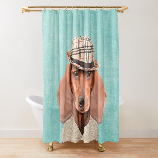 Mr Dachshund Shower Curtain