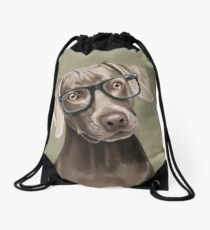 Mr Weimaraner Drawstring Bag
