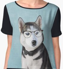 Mr Siberian Husky Women's Chiffon Top