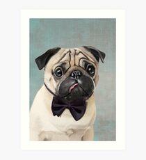 Mr Pug Art Print