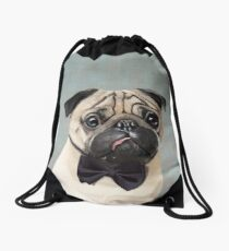 Mr Pug Drawstring Bag
