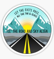 Road and Sky Align  Sticker