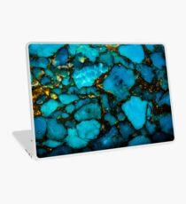 Turquoise gemstone close up Laptop Skin