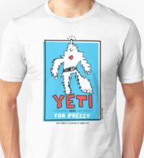 Yeti For Prezzy! President Election Comic Robot Monster Design T-Shirt