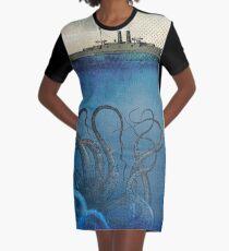 Sea Monster Graphic T-Shirt Dress