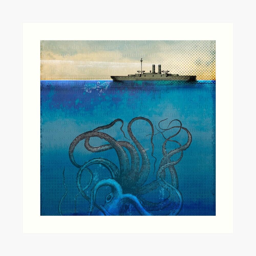 Monstruo marino Lámina artística