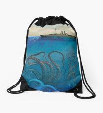 Sea Monster Drawstring Bag