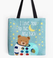 Astronaut teddy bear Tote Bag