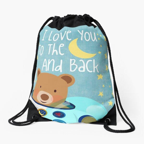 Astronaut teddy bear Drawstring Bag