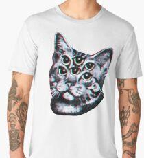 Psychedelic Cat (3D vintage effect) Men's Premium T-Shirt