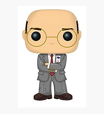 Skinner Funko Pop! Illustration (X-Files) Photographic Print