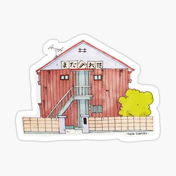 Japanese apartments Sticker