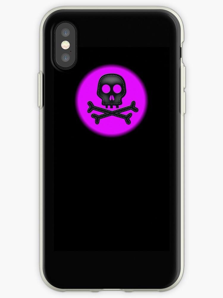 Purple black skull crossbones simple design by artisticattitud