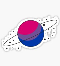 Bisexual Pride Planet Sticker