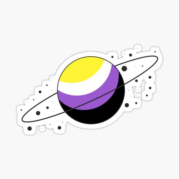 Nonbinary Pride Planet Sticker