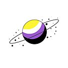 Nonbinary Pride Planet by SavaMari