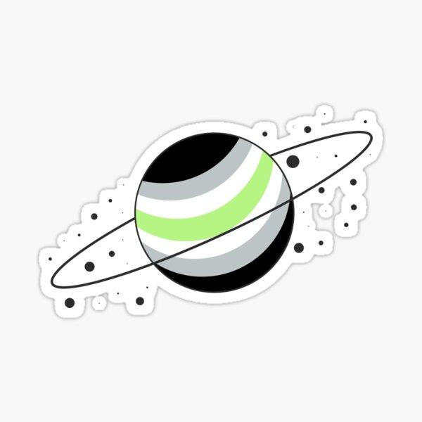 Agender Pride Planet Sticker