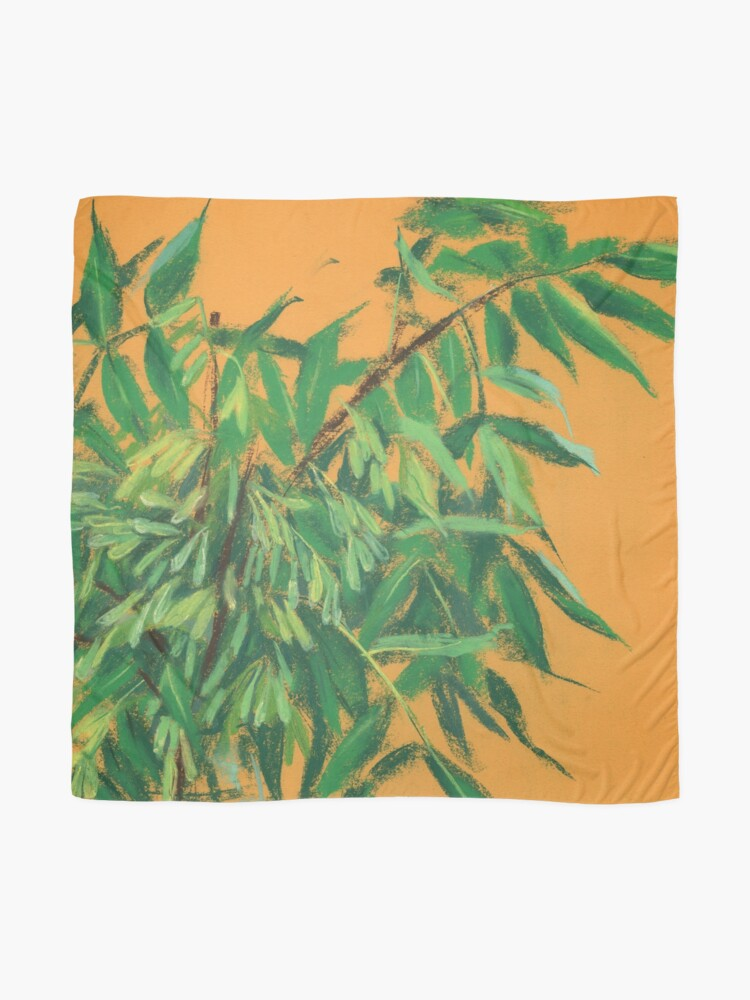 Alternate view of Ash-Tree, Summer Greenery, Green Yellow, Floral Art Scarf
