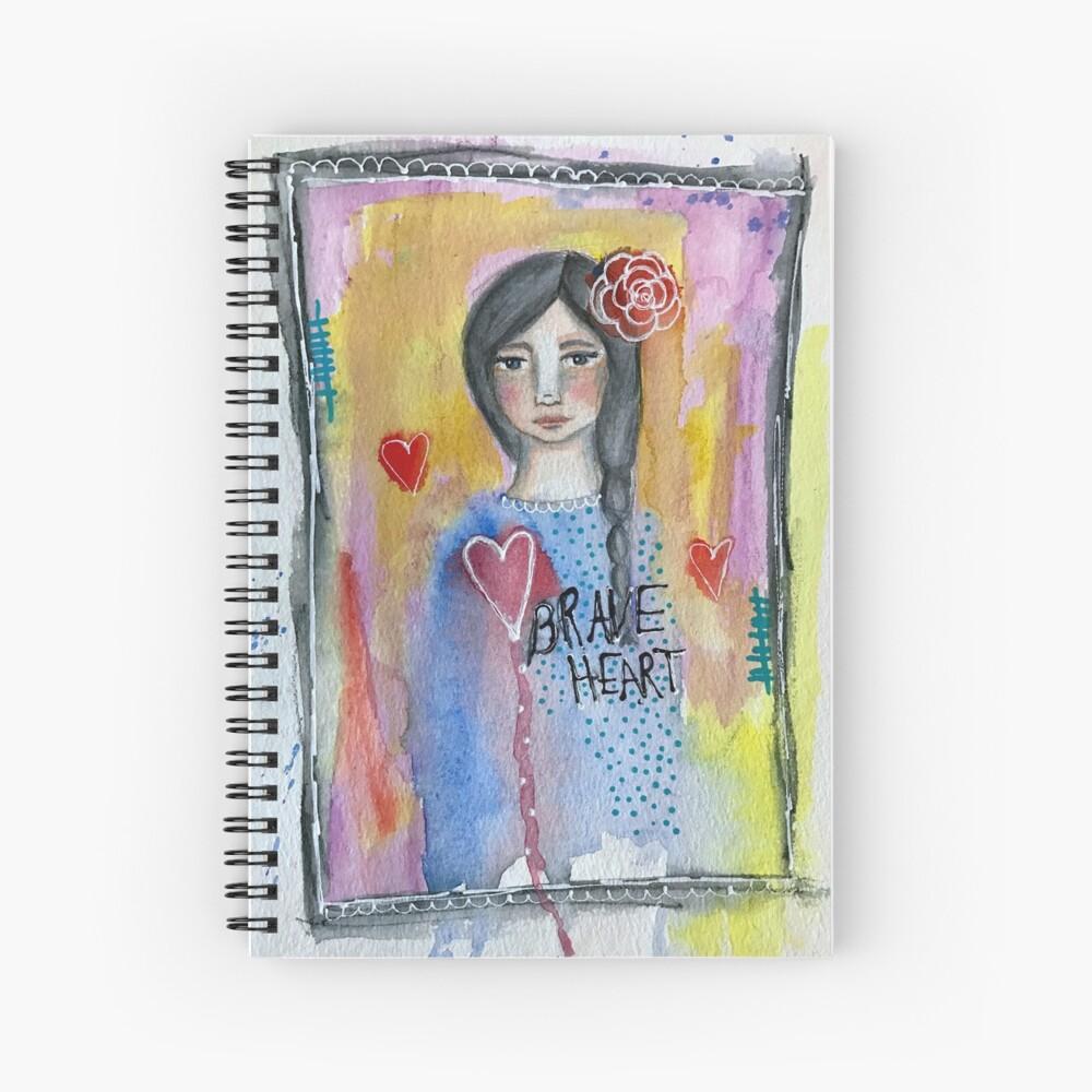 """Brave Heart"" Spiral Notebook"