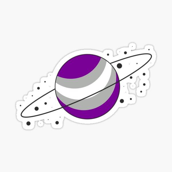 Gray Ace Pride Planet Sticker