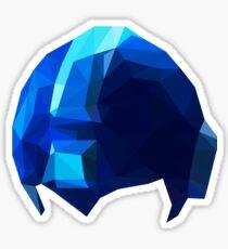Fractal Blue Hero Sticker