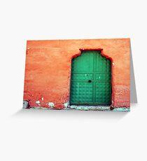 Door In Orange Greeting Card