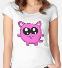 Kawaii Pink Kitty Women's Fitted Scoop T-Shirt