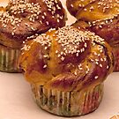 cakes with sesame seeds  by mrivserg