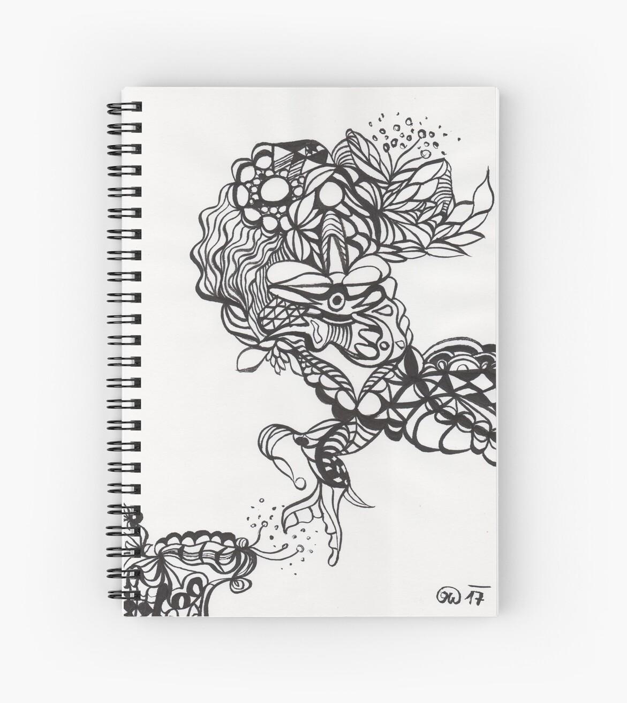 "meditative ink drawing ""Blinki"" by nobelbunt"
