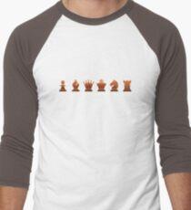Chess - Brown pieces Men's Baseball ¾ T-Shirt
