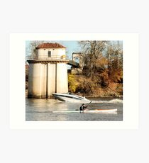 under power on the Sacramento River Art Print