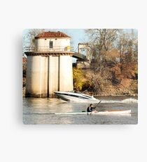 under power on the Sacramento River Metal Print