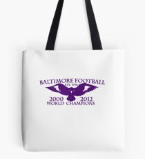 BALTIMORE FOOTBALL T-SHIRT Tote Bag