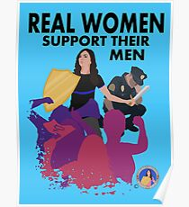 Real Women Fight Back: Law Enforcement Poster