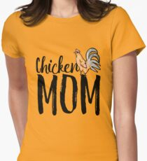 Chicken Mom Womens Fitted T-Shirt