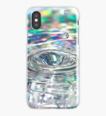 Colorful background with ripples and drops iPhone Case/Skin