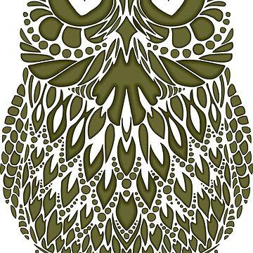 Owl Bird Tattoo by 06051984