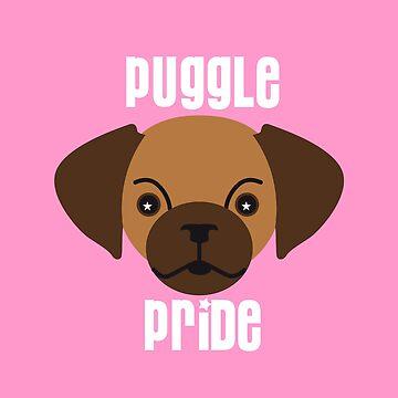puggle pride pink by debrisnyc