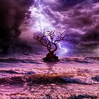 Lonely tree in the storm by Art Dream Studio