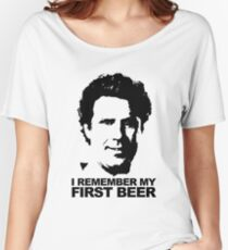 I Remember My First Beer - Brennan Women's Relaxed Fit T-Shirt