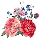 Beautiful PINK, ROSE AND BLUE - Jersey Beauty Flower by casualforyou
