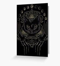 Black Cat Cult Greeting Card