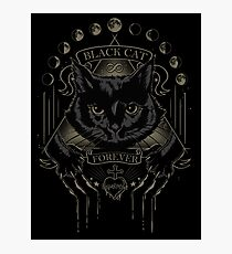 Black Cat Cult Photographic Print