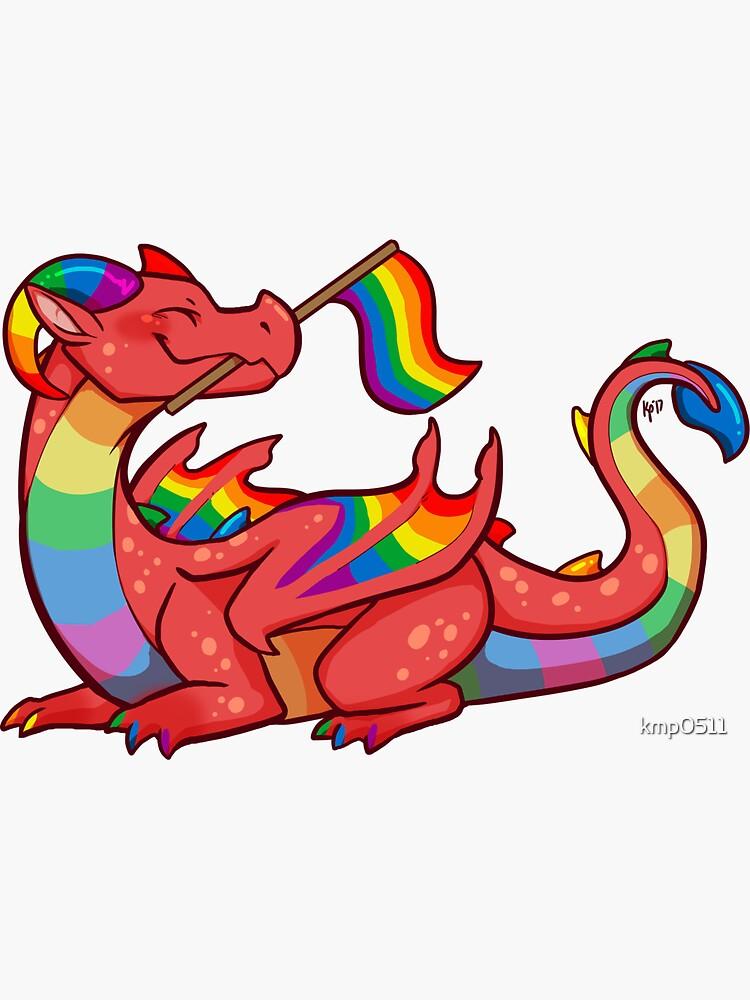 Gay Pride Flag Dragon (1st Edition) by kmp0511