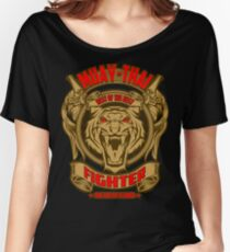 Muay Thai Fighter Shield - Thailand Martial Art Women's Relaxed Fit T-Shirt
