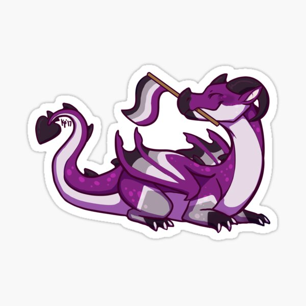 Asexual Pride Flag Dragon (1st Edition) Sticker