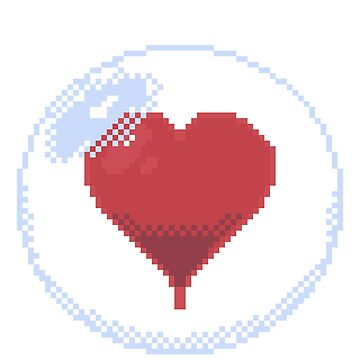 Pixel Heart in a bubble by Ombrage