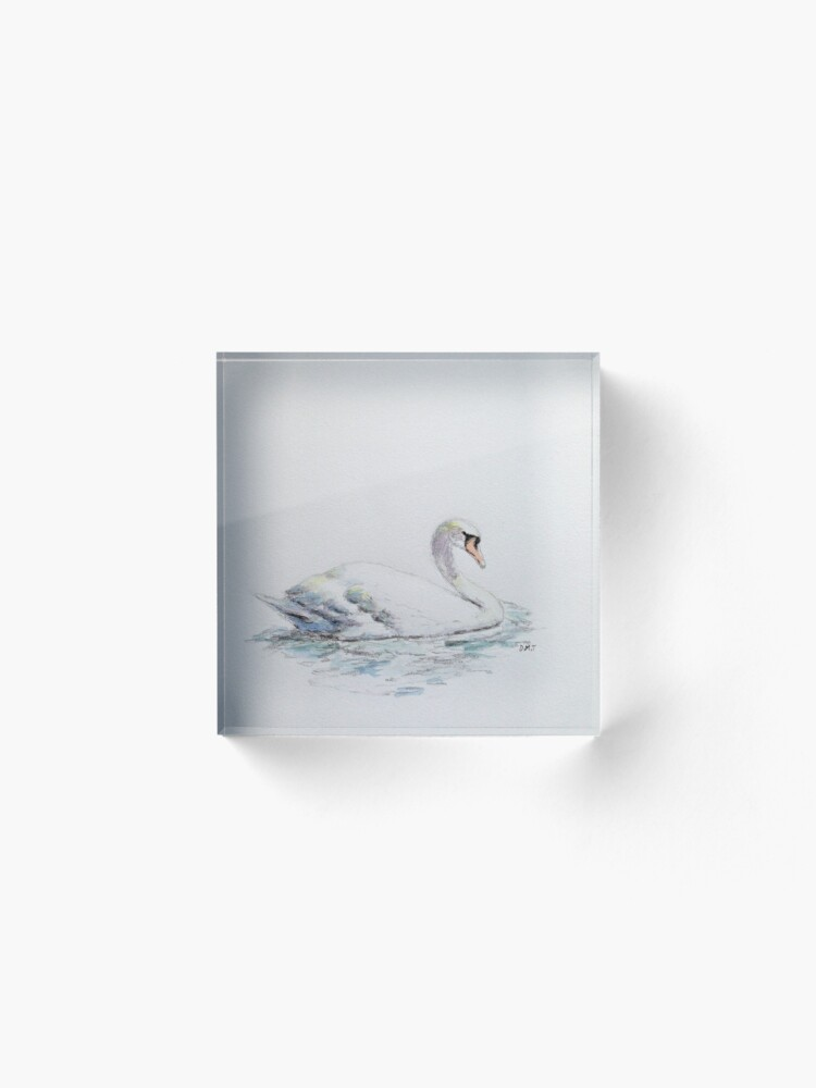 Alternate view of Swan upon the water Acrylic Block